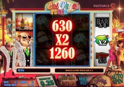 the free spins bonus feature pays out a 1260 coin jackpot