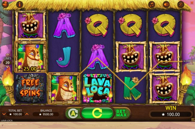 Go Wild featuring the Video Slots Lava Loca with a maximum payout of $40,000