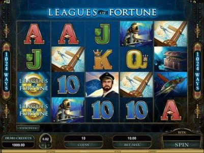 EypoBet featuring the Video Slots Leagues of Fortune with a maximum payout of $750,000