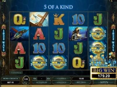 Piggs featuring the Video Slots Leagues of Fortune with a maximum payout of $750,000