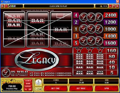 Play slots at CasinoUK: CasinoUK featuring the Video Slots Legacy with a maximum payout of $120,000