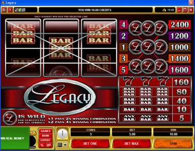 Golden Reef featuring the Video Slots Legacy with a maximum payout of $120,000