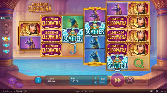 Triple Aces featuring the Video Slots Legend of Cleopatra with a maximum payout of $50,000