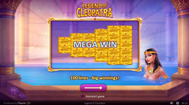 Play slots at Conquer: Conquer featuring the Video Slots Legend of Cleopatra with a maximum payout of $50,000