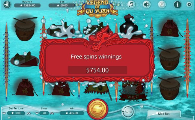 14 Red Casino featuring the Video Slots Legend of Qu Yuan with a maximum payout of $45,000