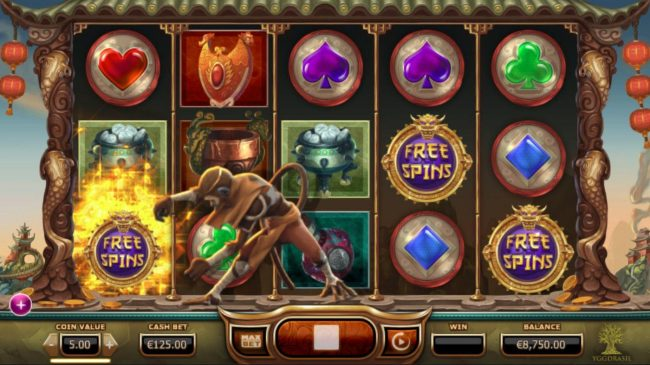 Legend of the Golden Monkey :: Golden monkey changes symbols into another for your advantage.