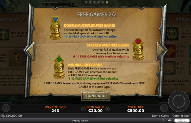 21 Nova featuring the Video Slots Legend of the Jaguar with a maximum payout of $50,000
