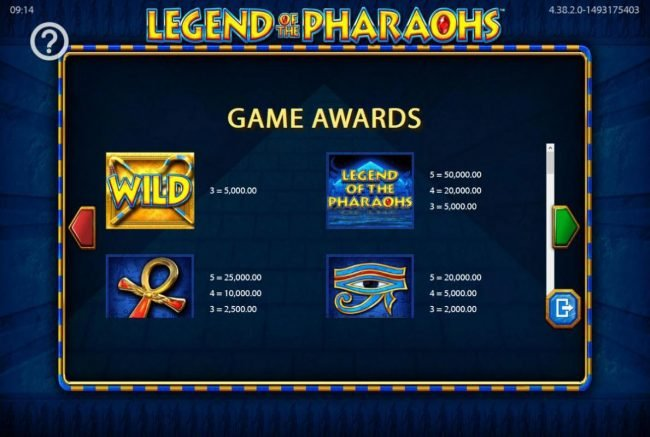 Play slots at All Irish: All Irish featuring the Video Slots Legend of the Pharaohs with a maximum payout of $250,000