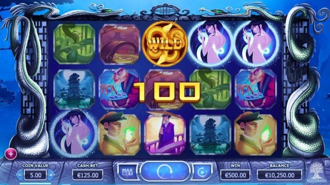 Reel Vegas featuring the Video Slots Legend of the White Snake Lady with a maximum payout of $125,000