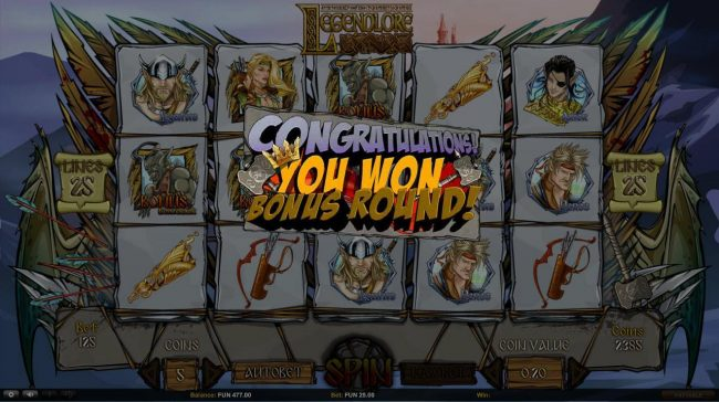 Argo featuring the Video Slots Legendlore with a maximum payout of $18,750