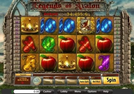 Grand Eagle featuring the Video Slots Legends of Avalon with a maximum payout of Jackpot