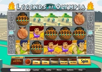 Play slots at Sports and Casino: Sports and Casino featuring the Video Slots Legends of Olympia with a maximum payout of $7,500
