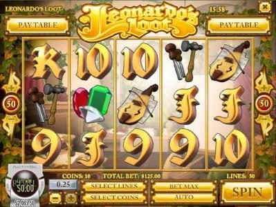 Tropica featuring the Video Slots Leonardo's Loot with a maximum payout of $18,700