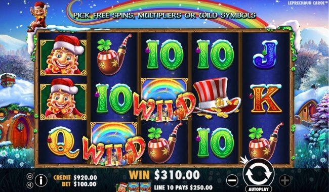 Leprechaun Carol :: Multiple winning paylines