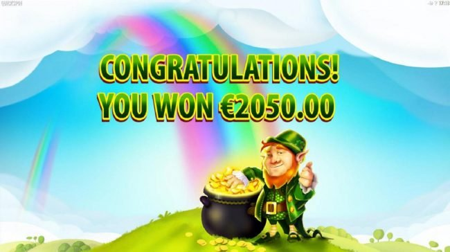 The Rainbow Free Spins feature pays out a total of 2050.00