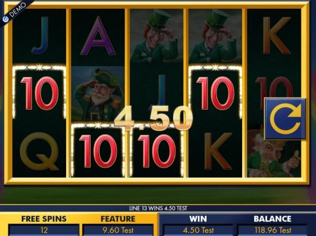 Videoslots featuring the Video Slots Leprechaun Tales with a maximum payout of $15,000