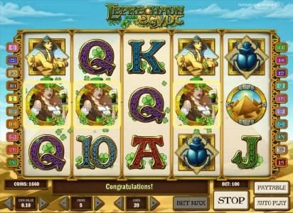 Unique Casino featuring the Video Slots Leprechaun goes Egypt with a maximum payout of $3000