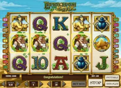 Play 24 Bet featuring the Video Slots Leprechaun goes Egypt with a maximum payout of $3000