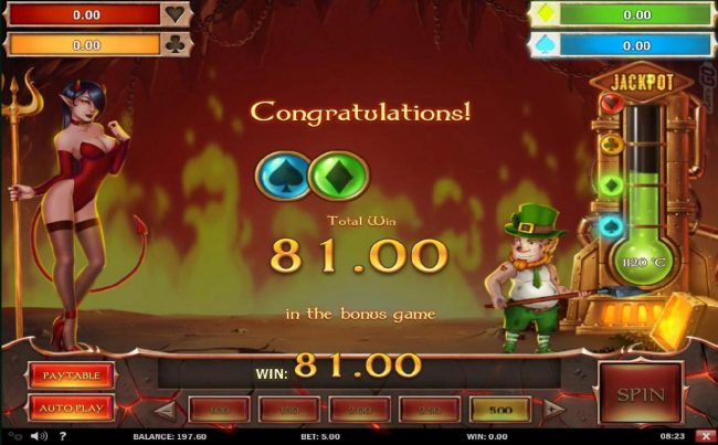 Casinsi featuring the Video Slots Leprechaun Goes to Hell with a maximum payout of $250,000 + Jackpot Wins