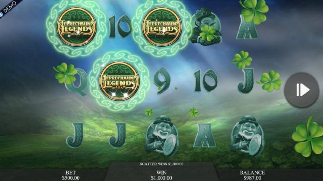 Play slots at CKcasino: CKcasino featuring the Video Slots Leprechaun Legends with a maximum payout of $25,000