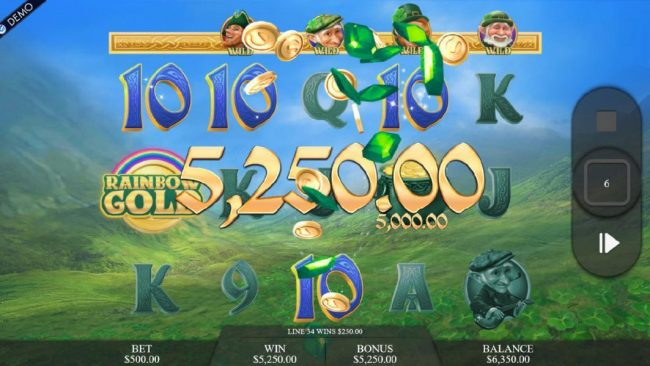A 5,250.00 mega win is triggered during the Legendary Songs free spins feature.