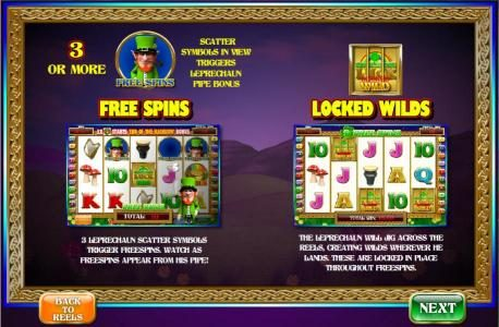 free spins and locked wilds rules