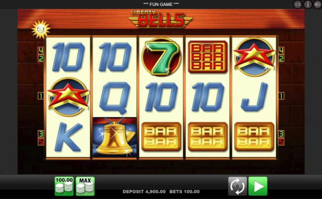 Play slots at Level Up: Level Up featuring the Video Slots Liberty Bells with a maximum payout of $100,000