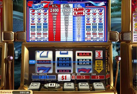 Lincoln featuring the Video Slots Liberty 7's with a maximum payout of $100,000