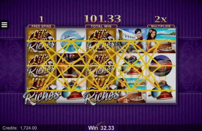 Play slots at Blackjack Ballroom: Blackjack Ballroom featuring the Video Slots Life of Riches with a maximum payout of $120,000