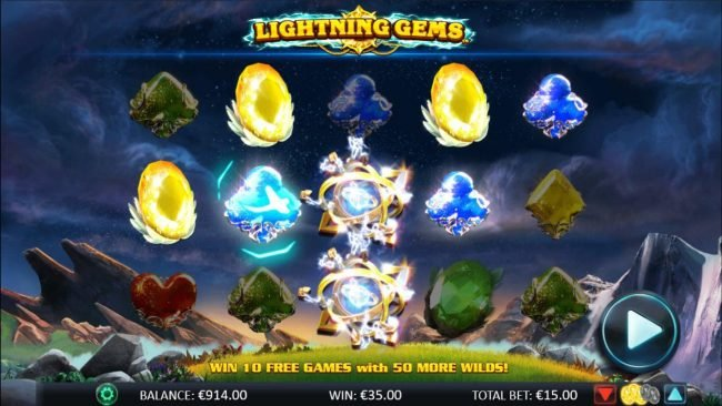 Africa Casino featuring the Video Slots Lightning Gems with a maximum payout of $20,000