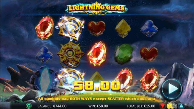 Play slots at 333 Palace: 333 Palace featuring the Video Slots Lightning Gems with a maximum payout of $20,000