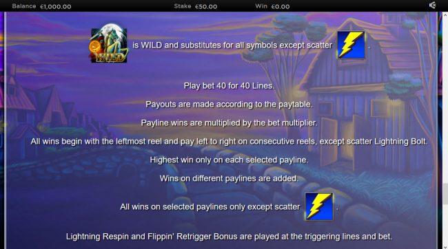 Lightning Horseman :: Feature Rules
