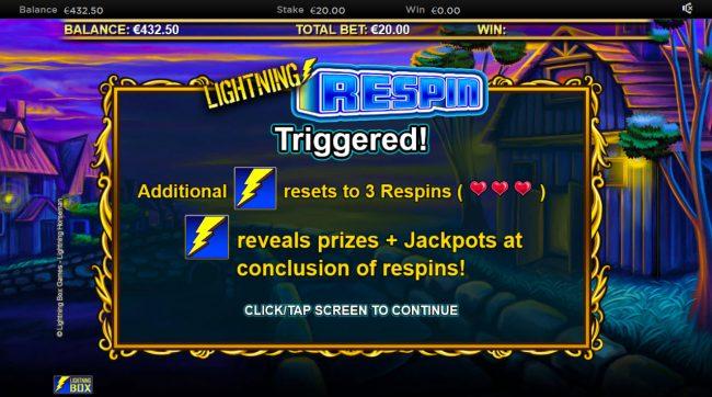 Lightning Horseman :: Respin Feature Triggered