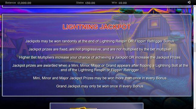 Lightning Horseman :: Jackpot Rules