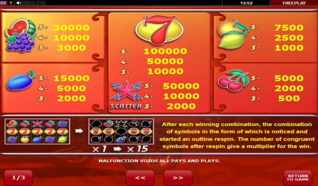 Betchan featuring the Video Slots Lightning Hot with a maximum payout of $100,000