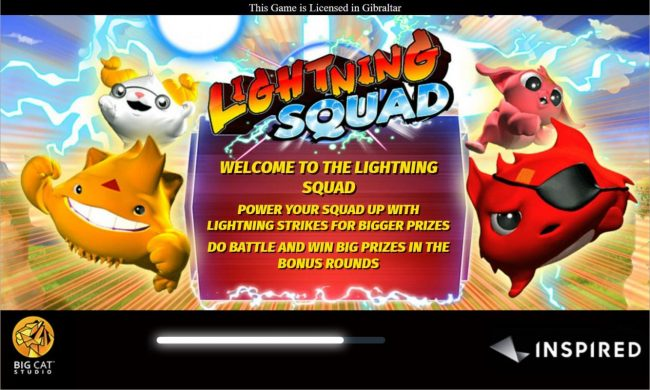 Play slots at Watch my Spin: Watch my Spin featuring the Video Slots Lightning Squad with a maximum payout of $6,250