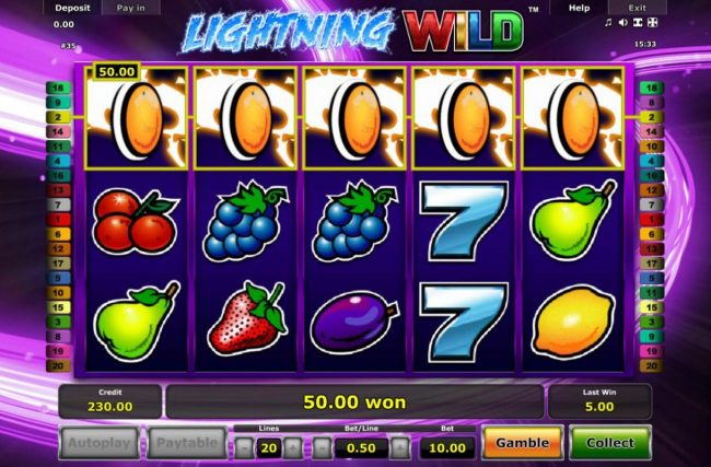 Genting featuring the Video Slots Lightning Wild with a maximum payout of $4,000