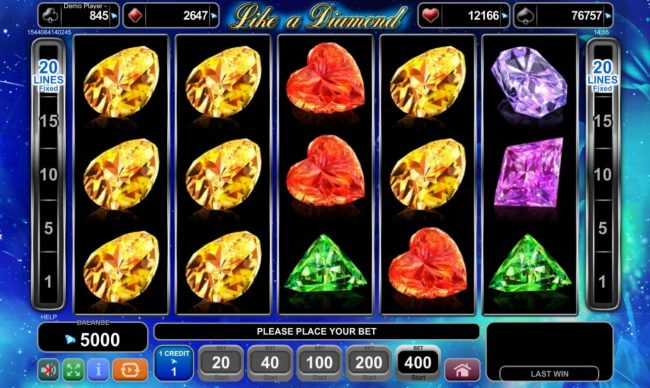 Play slots at Surf Casino: Surf Casino featuring the Video Slots Like A Diamond with a maximum payout of $80,000