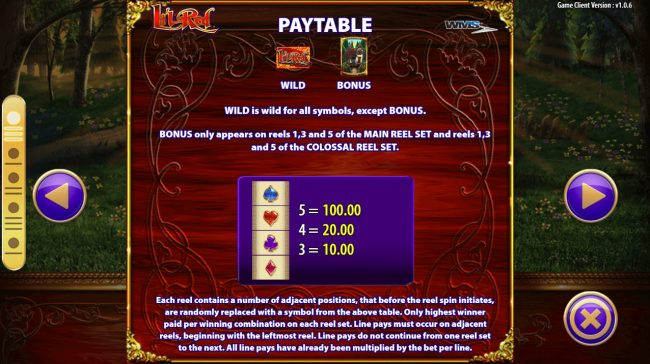 Play slots at Queen Vegas: Queen Vegas featuring the Video Slots Li'l Red with a maximum payout of $250,000