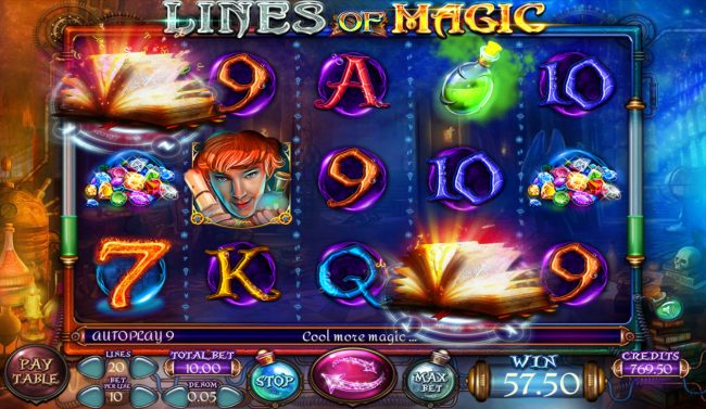 lines of Magic :: Multiple winning paylines