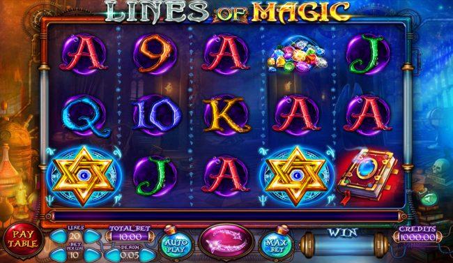 lines of Magic :: Main Game Board