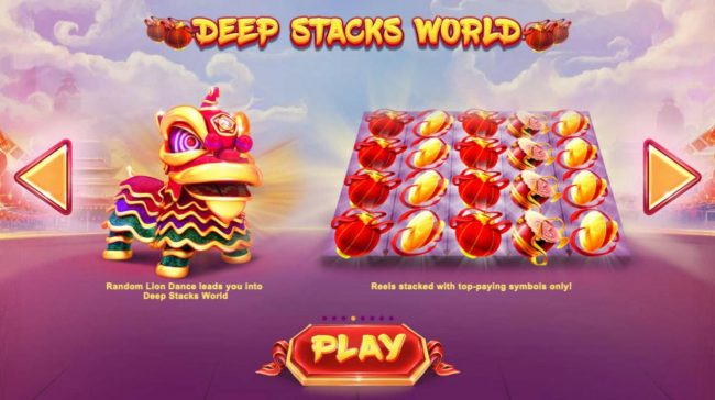 Lion Dance :: Deep Stacks World - Reels stacked with top-paying symbols only.
