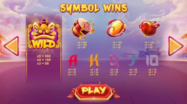 MANSION featuring the Video Slots Lion Dance with a maximum payout of $11,100