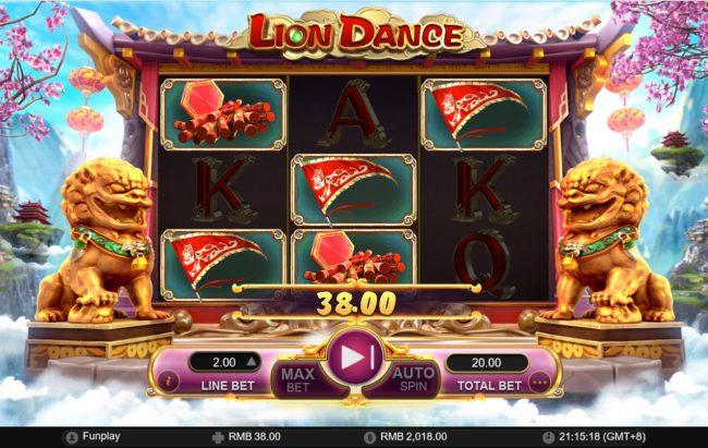 Lion Dance :: Multiple winning combinations