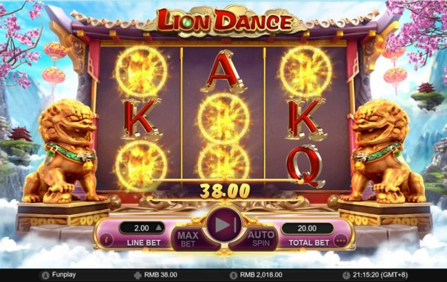 Lion Dance :: 38 coin payout