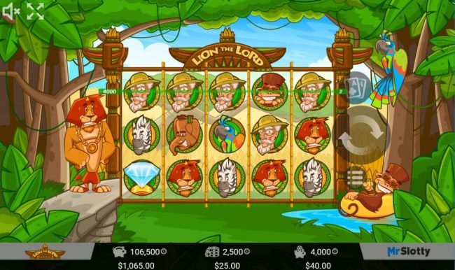 Betchan featuring the Video Slots Lion the Lord with a maximum payout of $200,000
