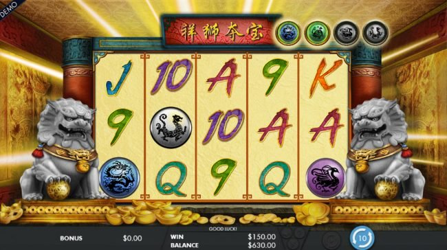 Crystal featuring the Video Slots Lion's Fortune with a maximum payout of $150,000