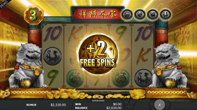 2 Additional Free Spins Awarded