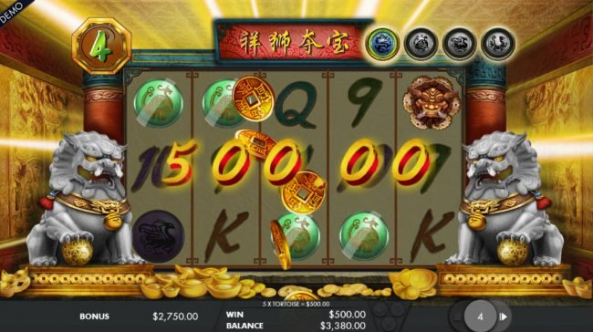 Jackpot Paradise featuring the Video Slots Lion's Fortune with a maximum payout of $150,000