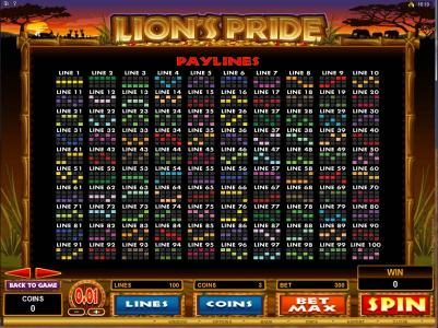 Play slots at Yukon Gold: Yukon Gold featuring the Video Slots Lion's Pride with a maximum payout of $125